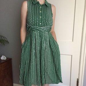 Anthropologie Polka Dot Dress Size Small